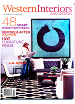 Western Interiors magazine cover